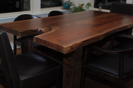 Custom Made Escade Live Edge Dining Table