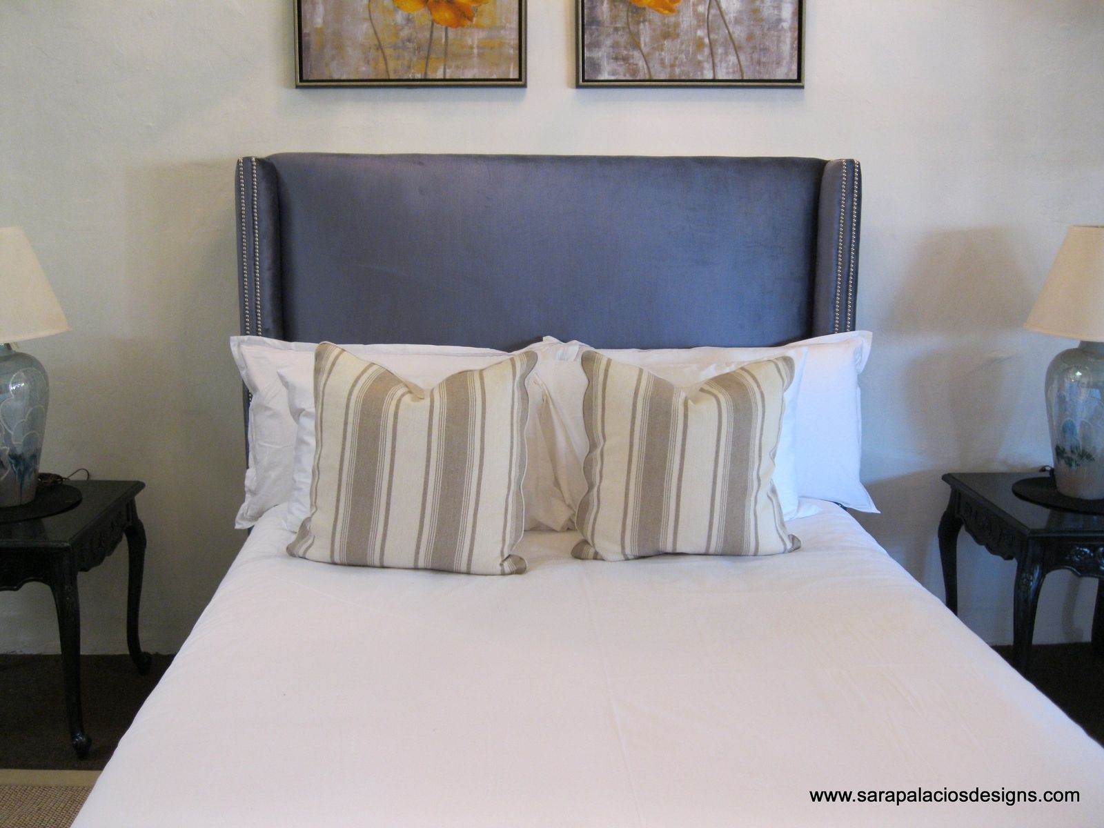 Custom Made Upholstered King Bed Headboard By Sara