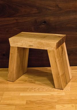 Custom Made Solid Maple Foot Stool With Walnut Accent