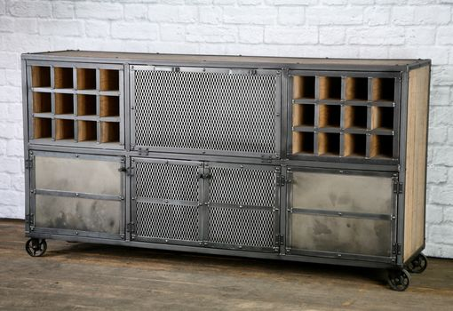 Custom Made Reclaimed Wood Liquor Cabinet / Bar. Vintage Industrial, Urban Modern Style. Distressed.
