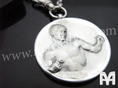 Custom Made Sterling Silver Fighter Boxer Keychain