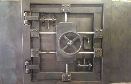 Custom Made Vintage Vault Door And Wall Custom Made