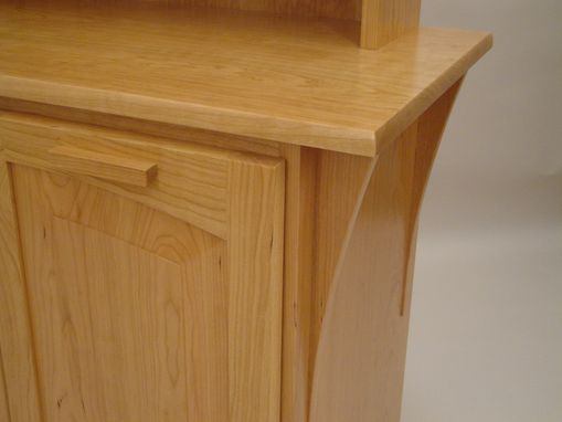 Custom Made Solid Cherry Recycling Cabinet