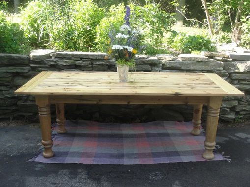 Custom Made Reclaimed Cyprus/Spruce Farmhouse Table