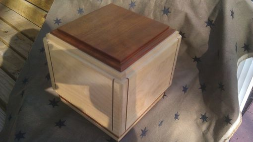 Custom Made Maple Mahogany Cremation Urn