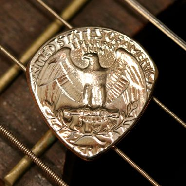 Custom Made Usa Coin Guitar Pick - 1965-2020 Any Date