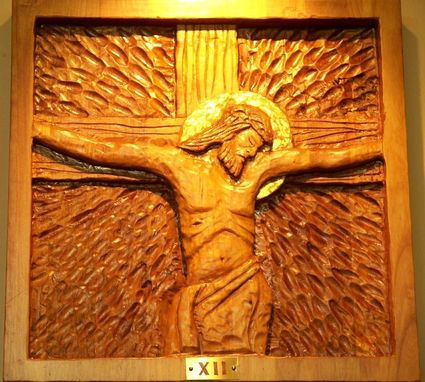 Custom Made Stations Of The Cross Ascension Church, Portland, Oregon.