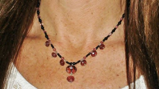 Custom Made Purple Swarovski Crystal Necklace. One Of A Kind. Boho Chic. Hipster. Made In Maui.