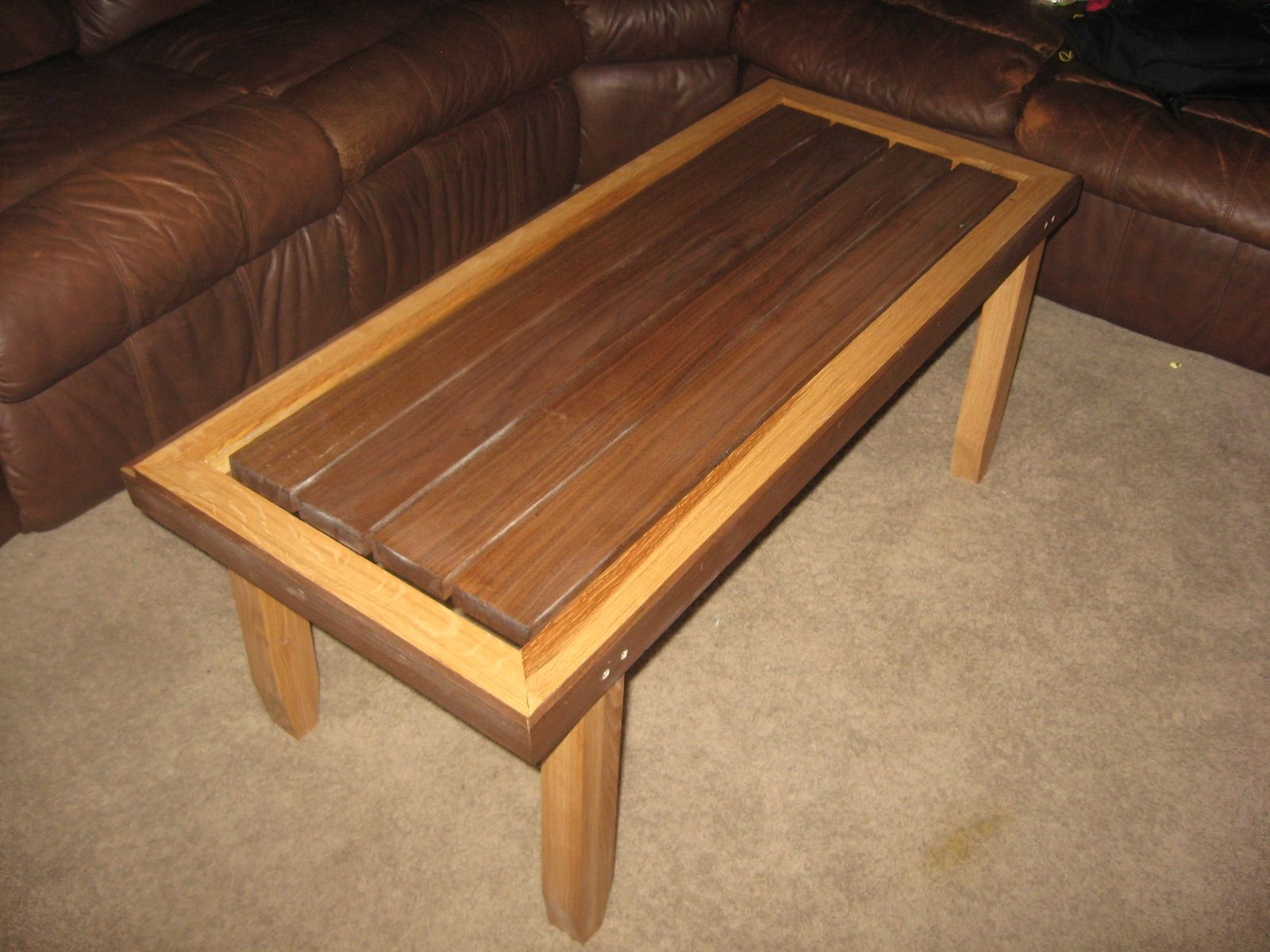 Hand Made Floating Plank Coffee Table by Wyoming Wood Chucker