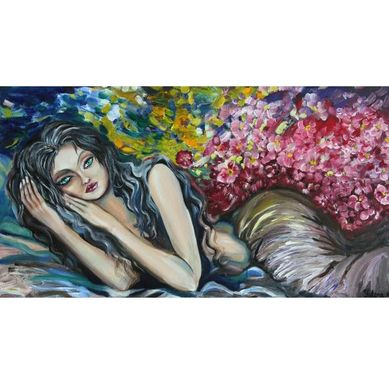 Custom Made Original Oil Painting On Canvas Sweet Dreams