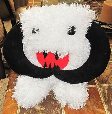"Custom Made Stuffed Plush White Furrie Wampa Pillow Doll 17""Long X18""Wide"