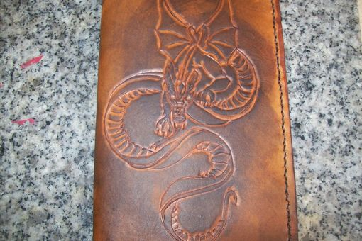 Custom Made Custom Leather Day Planner With Dragon Design