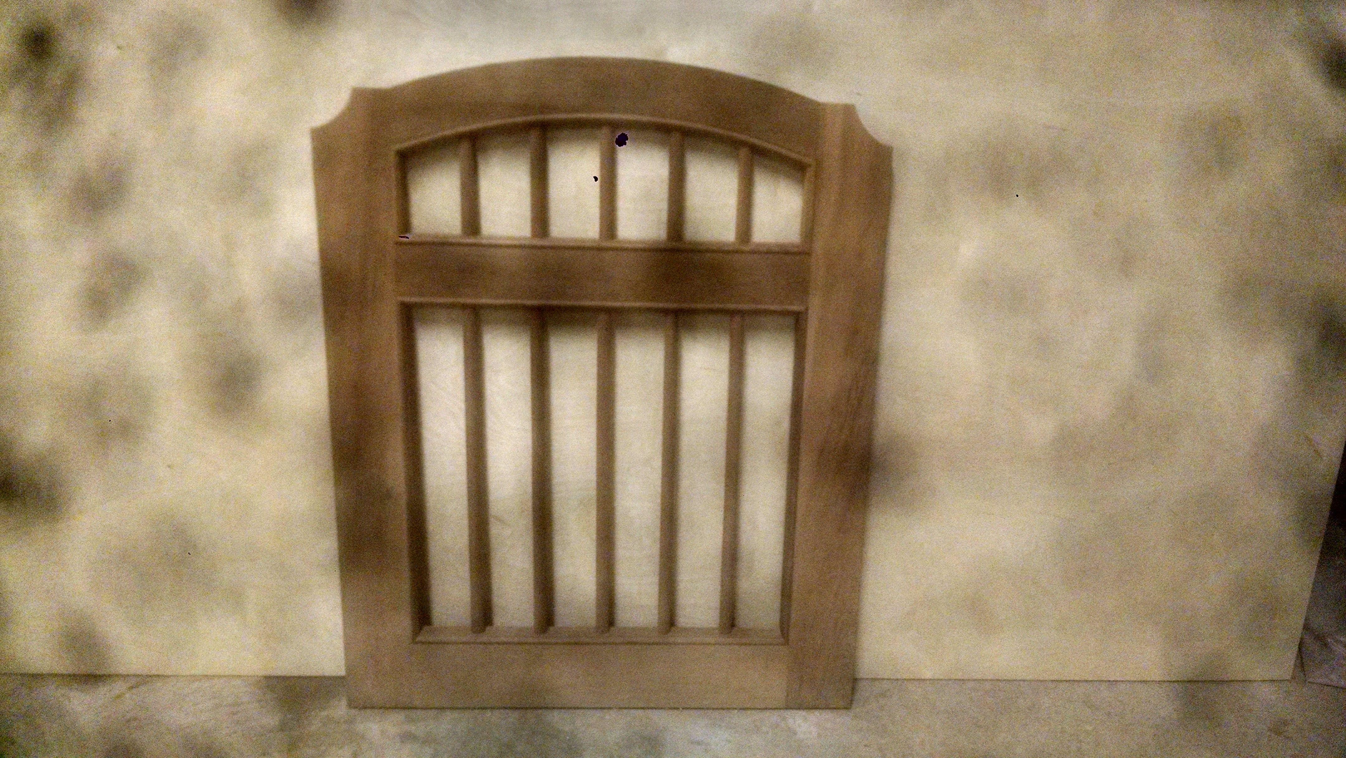 Buy a Custom Made Cedar Garden Gate..( Bastille), made to order from ...
