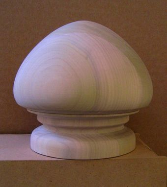 Custom Made Newel Ball And Finial