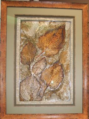 Custom Made Real Hosta Leaves Incorporated Into This Beautiful Art Piece