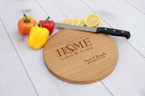 Custom Made Personalized Cutting Board, Engraved Cutting Board, Custom Wedding Gift – Cbr-Wo-Travis&Brenda