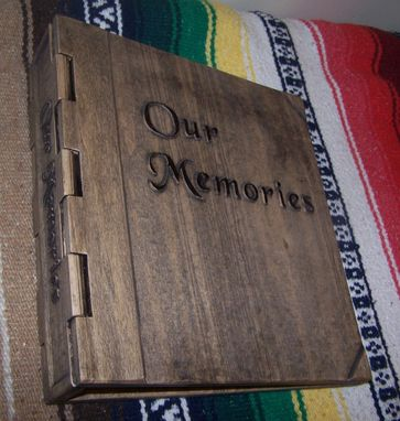 Custom Made Wooden Hinge Memory Album / Scrap Book
