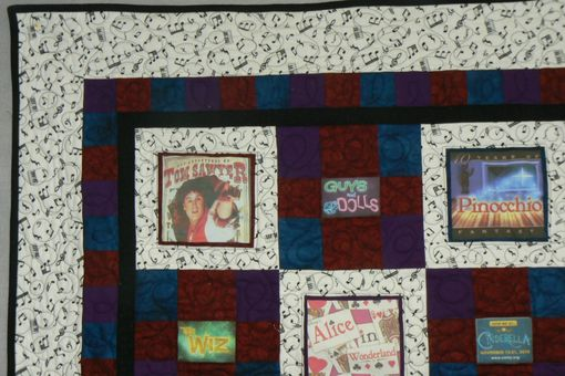 Custom Made Custom Photo Memory Quilt For A Young Actor