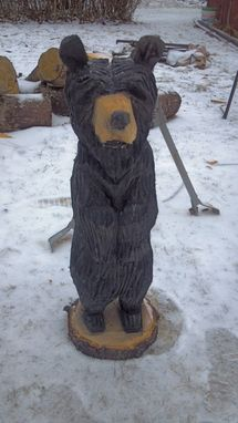 Custom Made Chainsaw Carved Standing Black Bear