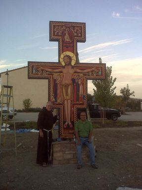 Custom Made San Damiano Cross At San Miguel Mission, Ca.