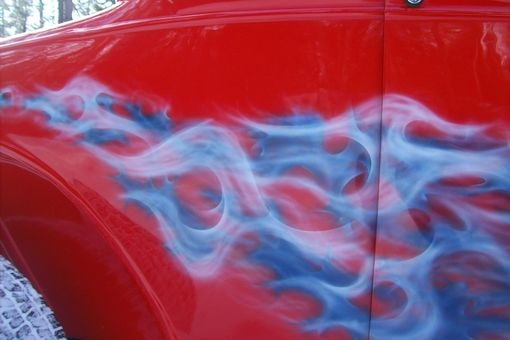 Custom Made Airbrushing, Paint And Bodywork On 1930 Model A Ford Street Rod