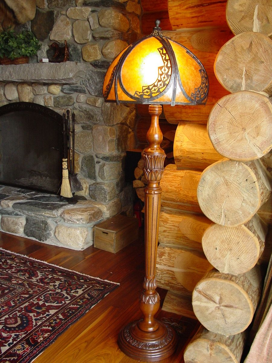 Hand Crafted Large Mica Lamp Shade By Rising Sun Forge