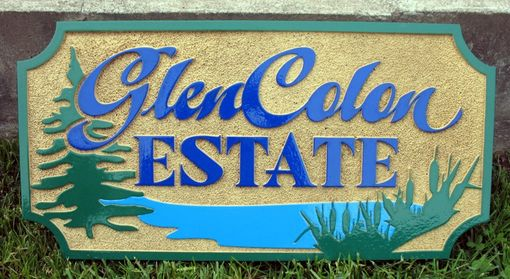 Custom Made Sandblasted Cedar Sign