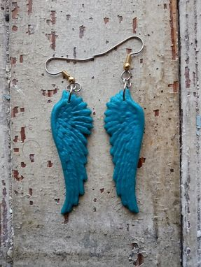 Custom Made Polymer Clay Wing Earrings