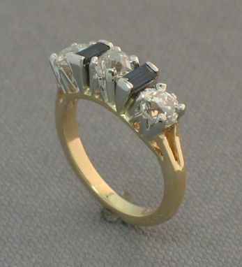Custom Made Antique Reproduction 4 Stone Dinner Ring