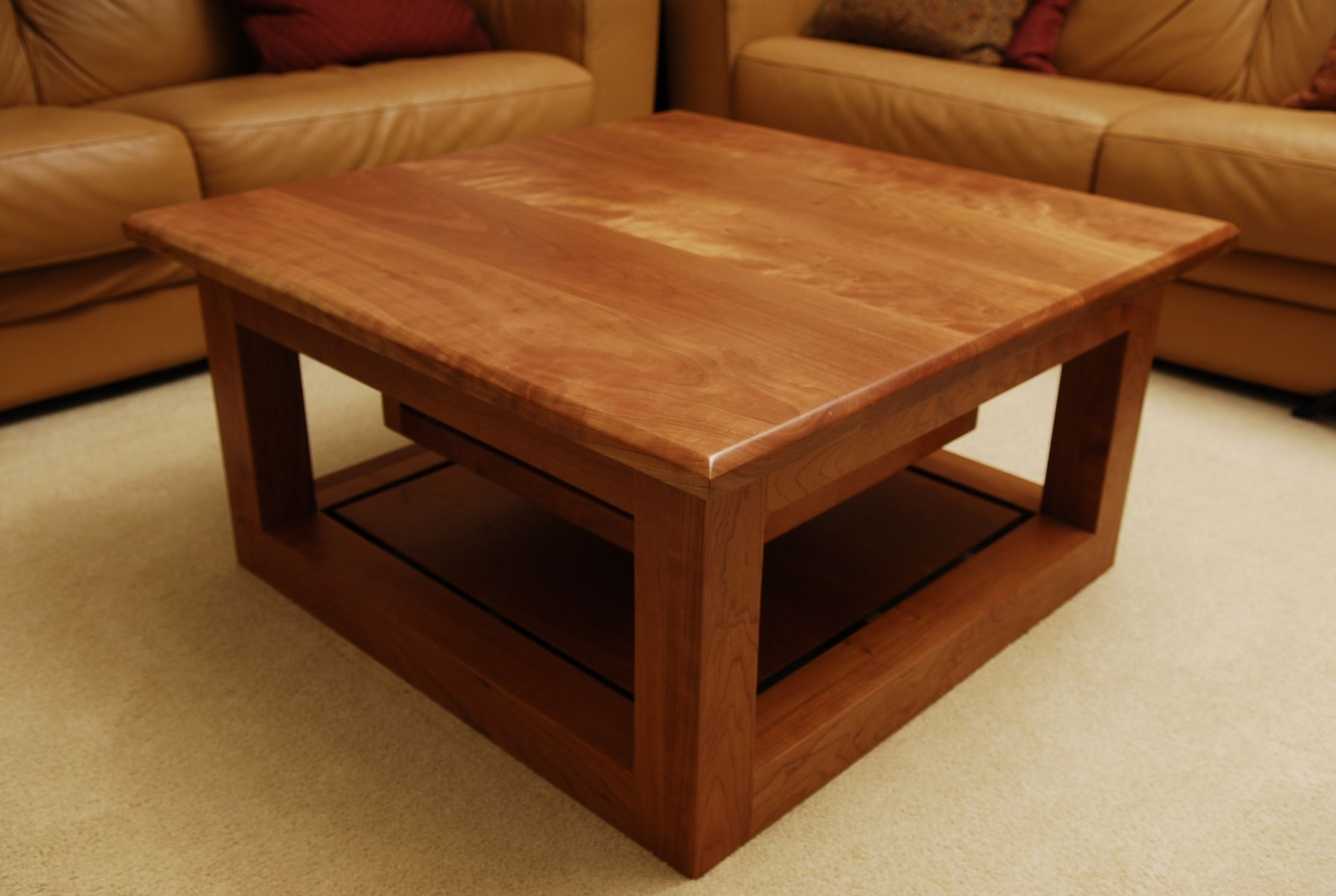 Handmade Cherry Coffee Table by Schmitt Custom Furniture