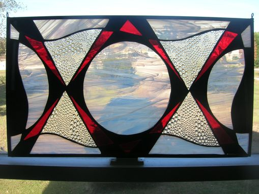 "Custom Made ""Exes And Ohs"" - Stained Glass Panel"