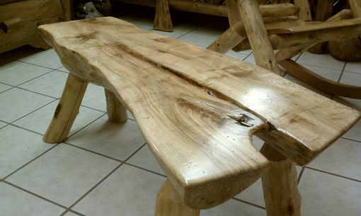 Custom Made 1/2 Log Benches