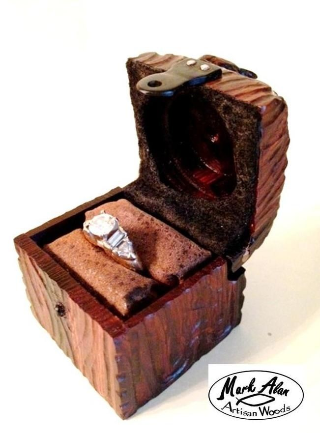 Custom engagement ring box rabbit box by mark alan for Cute engagement ring boxes
