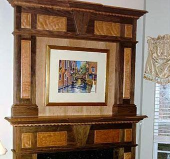 Custom Made Mantel With Over Mantle