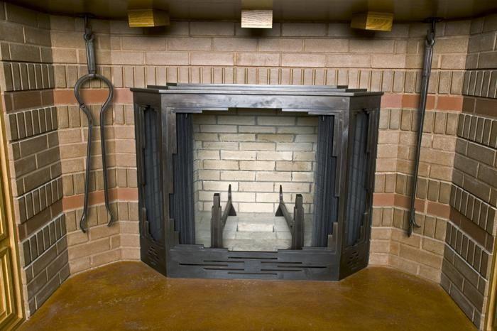 Handmade Frank Lloyd Wright Style Fireplace By Steve