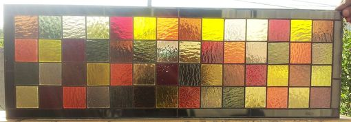 Custom Made Stained Glass Panel - Earthtone Colors (P-13)