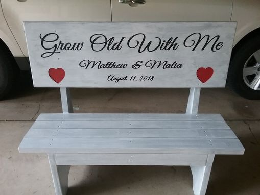 Custom Made Personalized Bench Wedding Bench Outdoor Bench Bench With A Back Engraved Bench