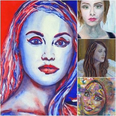 Custom Made Portrait Painting Gifts, Drawing Watercolor, Oil, Acrylic, Pen And Ink, Wall Art
