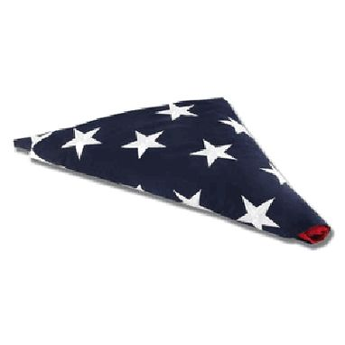 Custom Made American Flag For Flag Display Case 3ft X5 Ft Cotton