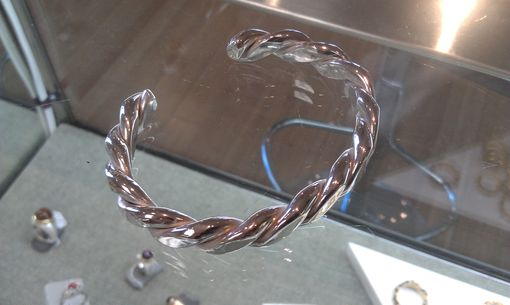 Custom Made Twisted Silver Bracelet