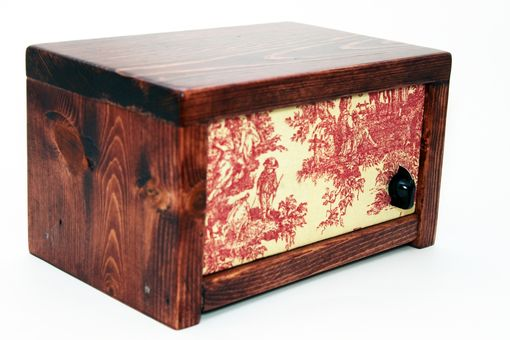 Custom Made Bluetooth Speaker System - Small Red Toile Box