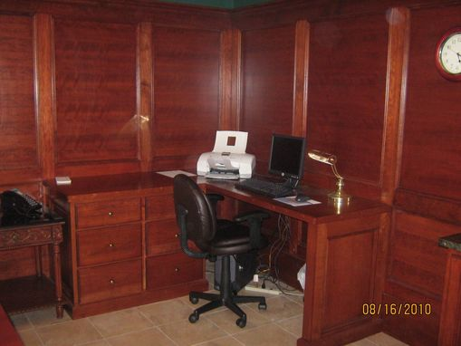Custom Made Cherrywood Raised Panel Conference Room