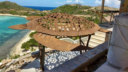 Custom Made Sea Turtle Canopy For A Residence In The Cayman Islands