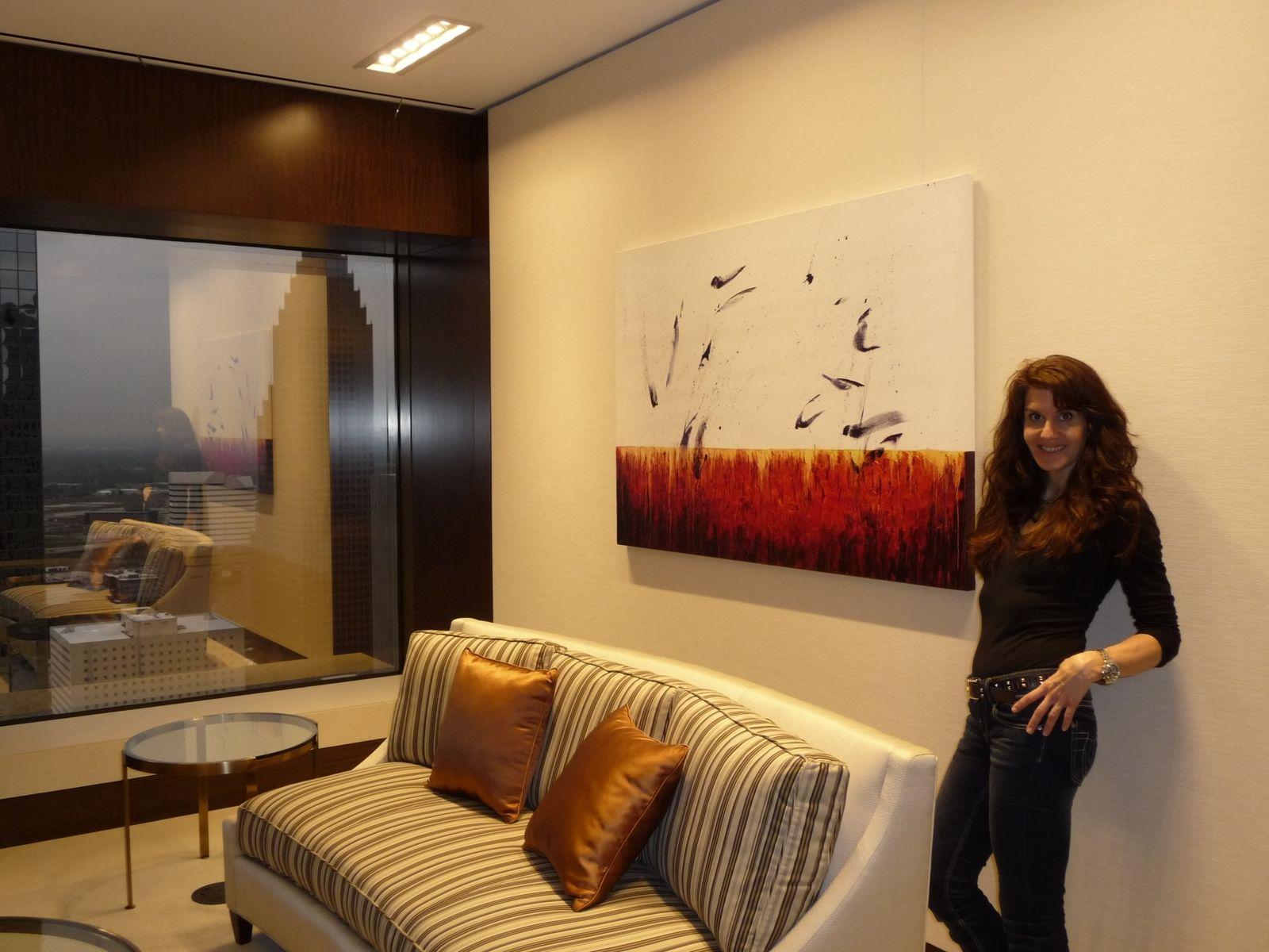 Handmade Abstract Art Custom Installation - 15 Paintings - Global ...