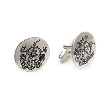 Custom Made Family Crest Cufflinks For The Best Man, Groom, Father Of The Bride Etc