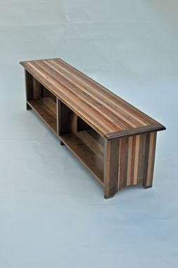 Custom Made Two Benches With Book Shelf Storage Beneath Seat