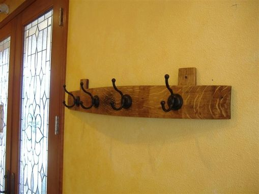 Custom Made Wine Barrel Stave Coat Rack