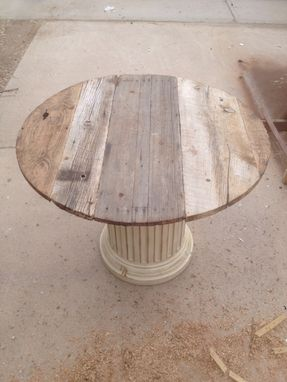 Custom Made Barnwood Dinette Table