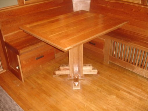 Custom Made Cherry Breakfast Nook Table