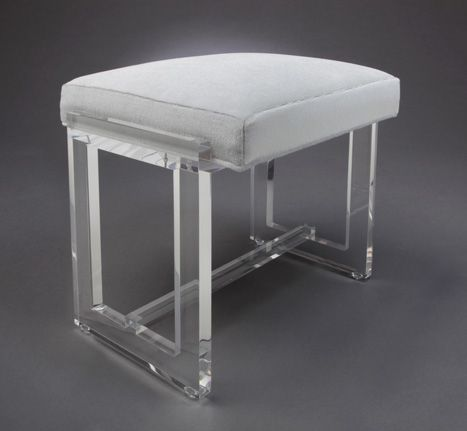 Terrific Buy A Hand Made Acrylic Vanity Stool 1 00 Clear Acrylic Pabps2019 Chair Design Images Pabps2019Com